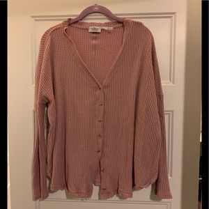 Oversized button up thermal